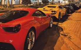 Ferrari F8 Spider màu vàng đầu tiên tại Việt Nam hội ngộ với dàn Ferrari đình đám lúc nửa đêm tại Sài Gòn