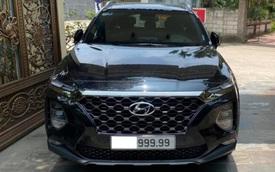 Tiếp tục rao bán lần 2, Hyundai Santa Fe biển '999.99' có giá hơn 3 tỷ đồng