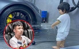 Ái nữ nhà Nguyễn Quốc Cường xắn quần rửa Mercedes-AMG GT R quá 'có tâm', Minh Nhựa nhanh tay vào 'chốt đơn' nhờ rửa siêu xe