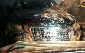 Cháy garage ô tô, 3 xe sang gồm Range Rover và Audi bị 'nướng chín'