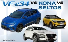 Cùng tầm giá dưới 700 triệu đồng, chọn VinFast VF e34, Hyundai Kona hay Kia Seltos?