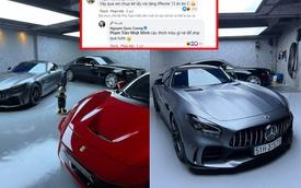 Vợ 'cho' iPhone 13 Pro Max, Nguyễn Quốc Cường mang dàn xe ra 'sống ảo' khiến Minh Nhựa vội vào 'lấy vía' để được đổi điện thoại mới