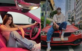 Dàn sao Việt rủ nhau mang xế cưng ra đường sau giãn cách: Ngọc Trinh 'bốc lửa' trong Rolls-Royce Ghost, Phương Ly giản dị thả dáng cạnh Mercedes-Benz C 300