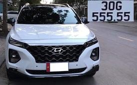 Hội Hyundai Santa Fe biển đẹp lại bán xe giá 2,7 tỷ: Biển '555.55', xe chưa từng lăn bánh và bóc ni-lon