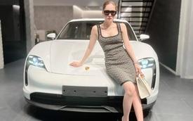 Vừa sắm Lamborghini Huracan, chồng ca sĩ Đoàn Di Băng tặng thêm Porsche Taycan cho vợ nhân dịp 20/10