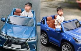 Sở hữu 'Lexus LX 570 mui trần' với biển số độc khi mới 2 tuổi, bé Bo nhà Hòa Minzy đốn tim cộng động mạng với phong thái 'quý tử'