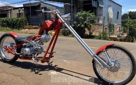 Phục chế Honda Super Cub thành mô tô kiểu dáng Chopper bụi bặm