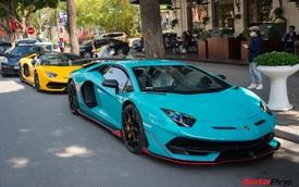 Dàn siêu xe khủng xuống phố Hà Nội đón Tết: McLaren 650S Spider màu dị của Dương 'Kon' và cặp đôi Lamborghini Aventador SVJ gây chú ý