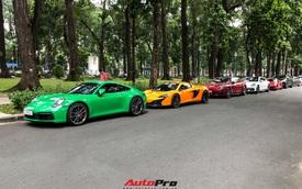 Hội chơi xe Porsche Sài Gòn hội ngộ đầu năm, McLaren từng của Minh 'nhựa' là điểm nhấn