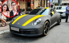 Vợ chồng ái nữ nhà Minh 'nhựa' du xuân trên Porsche 911 Carrera trị giá hơn 7 tỷ đồng