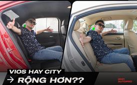 Ngồi trong Toyota Vios 2021 có rộng hơn Honda City thế hệ mới? Đây là câu trả lời