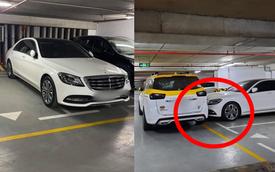 """Đỗ xe ngang trái, chủ Mercedes tiền tỷ """"tái mặt"""" khi đối diện với màn trừng phạt đặc biệt"""