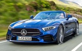 Mercedes-AMG SL Roadster trở lại và lợi hại gấp nhiều lần: Có 4Matic+, cánh gió 'thụt thò' và khung gầm mới