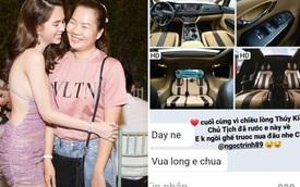 """Sau vụ pass đồ """"chấn động"""" vì sợ Thuý Kiều nghỉ việc, Ngọc Trinh còn chi trên dưới 1 tỷ mua xe để chiều lòng trợ lý"""