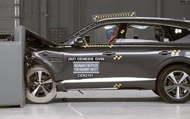 Genesis GV80 vừa về Việt Nam được thử nghiệm đâm va ở tốc độ cao, chứng minh độ an toàn cao nhất thị trường