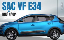 VinFast VF e34 có sạc được ở nhà với nguồn điện thường không hay phải ra trạm sạc của VinFast?