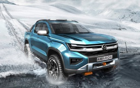 Volkswagen Amarok đời mới tung teaser - Ford Ranger khoác áo Đức