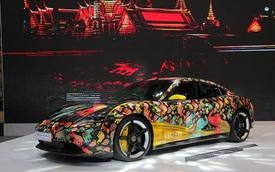 Porsche Taycan họa tiết độc đáo lần được được giới thiệu