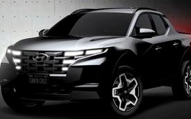 Hyundai Santa Cruz lần đầu lộ diện bản thương mại - Bán tải khung gầm Santa Fe