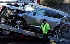 Tiết lộ nguyên nhân tai nạn kinh hoàng của Tiger Woods trên Genesis GV80: Nhầm chân phanh với chân ga, đâm ở vận tốc 120 km/h