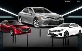 Sedan hạng D tháng 3/2021: Toyota Camry chiếm gần trọn phân khúc
