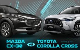 Giá hơn 800 triệu, Mazda CX-30 tiêu chuẩn có gì cạnh tranh Toyota Corolla Cross bản tầm trung tại Việt Nam?
