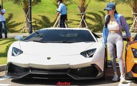 Bị bong gân, hot girl 9x vẫn lái Lamborghini Aventador thoăn thoắt từ Sài Gòn đến Mũi Né
