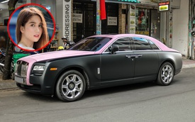 Mặc kệ 'drama', Ngọc Trinh mang Rolls-Royce Ghost bản 'Black Pink' siêu độc lên phố chơi cuối tuần