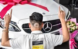 Gây ấn tượng trong ngày nhận xe, 9X Bắc Ninh thửa ngay kiểu đầu đậm chất 'fan cuồng' Mercedes-Benz