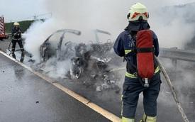 Siêu SUV Lamborghini Urus bốc cháy tại Đài Loan