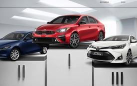 Sedan hạng C bán chạy tháng 4/2021: Từ đứng chót bảng, Toyota Corolla Altis bất ngờ bán vượt Hyundai Elantra
