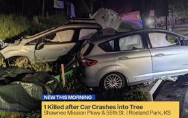 Tai nạn khó tin: Xe Ford bị xẻ làm đôi theo chiều dọc, mọi thứ không thể cứu vãn