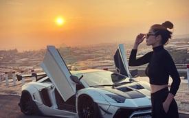 Thêm 1 chị gái nhà giàu gây choáng: Sở hữu cả bộ sưu tập siêu xe, mặc áo màu gì - đi xe màu đó!