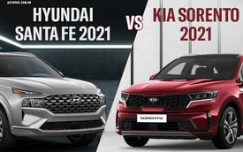 Hyundai Santa Fe 2021 đấu Kia Sorento 2021 giá tầm 1,3 tỷ đồng: Cạnh tranh khốc liệt từng trang bị nhỏ