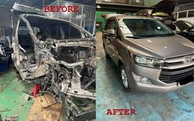 Xôn xao hình ảnh Toyota Innova nát bét sau tai nạn được 'hồi sinh' như xe mới
