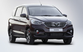 Xem trước xe gia đình giá rẻ của Toyota: Ra mắt cuối năm, giống hệt Suzuki Ertiga nhưng thay logo mới