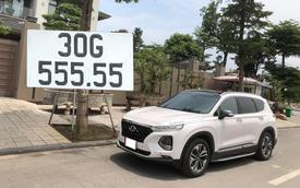 Bán Hyundai Santa Fe biển '555.55', đại gia vẫn dư gần nửa tỷ nếu 'tậu' Mercedes-Benz GLC 300 AMG 'đập hộp'