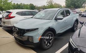 Hyundai Santa Cruz lăn bánh trên đường phố - Bán tải 'sang chảnh', ngập công nghệ đấu Ford Ranger
