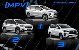 Cuộc đua MPV tháng 5/2021: Mitsubishi Xpander tiếp tục dẫn đầu doanh số, Suzuki XL7 giành chỗ từ Toyota Innova