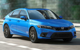 Ra mắt Honda Civic 2022 hatchback: Dáng coupe điệu hơn Mazda3, dễ khiến khách Việt mở lòng với xe 'đuôi cộc'