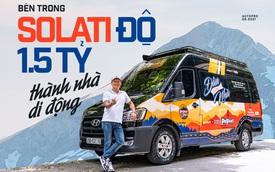 Thợ Việt độ Hyundai Solati thành nhà di động hết hơn 1,5 tỷ đồng: Có TV, bếp và công trình phụ, dùng điện mặt trời
