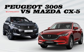 Cùng giá hơn 1 tỷ đồng, Peugeot 3008 vừa ra mắt có gì hơn thua vua doanh số Mazda CX-5?