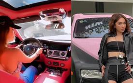 Lái xế hộp '30 tỷ đồng' sang chảnh xuống phố, Ngọc Trinh khiến netizen khó chịu vì vi phạm luật cơ bản khi tham gia giao thông