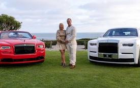 Vợ chồng 'nhà người ta' kỷ niệm ngày cưới bằng 2 chiếc Rolls-Royce hàng thửa siêu hiếm
