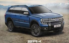 Ford Everest 2022 tiếp tục lộ mặt cho thấy thiết kế ngày càng vuông thành sắc cạnh, ảnh hưởng từ F-150