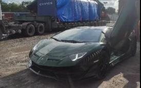 Lamborghini Aventador SVJ màu độc của đại gia lan Sài Gòn đã cập cảng Việt Nam, khoe sức mạnh bằng màn nẹt pô lớn