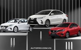 Toyota Vios dần bám chắc ngôi vua doanh số phân khúc sedan hạng B, Honda City đúng bằng số lẻ