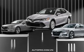 Liên tục giảm giá, Mazda6 vẫn chỉ bán bằng số lẻ của Toyota Camry trong khi Kia Optima hết hàng chờ mẫu mới