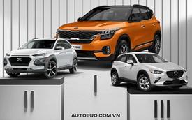 Kia Seltos bán gấp đôi Hyundai Kona, Honda HR-V ế nhất khi chưa bán nổi 50 xe