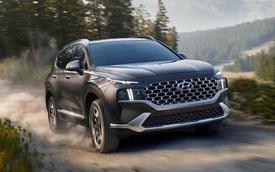 Ra mắt Hyundai Santa Fe 2022 phiên bản tiết kiệm xăng nhất: Giá quy đổi hơn 900 triệu đồng, máy 1.6 nhưng mạnh hơn 260 mã lực
